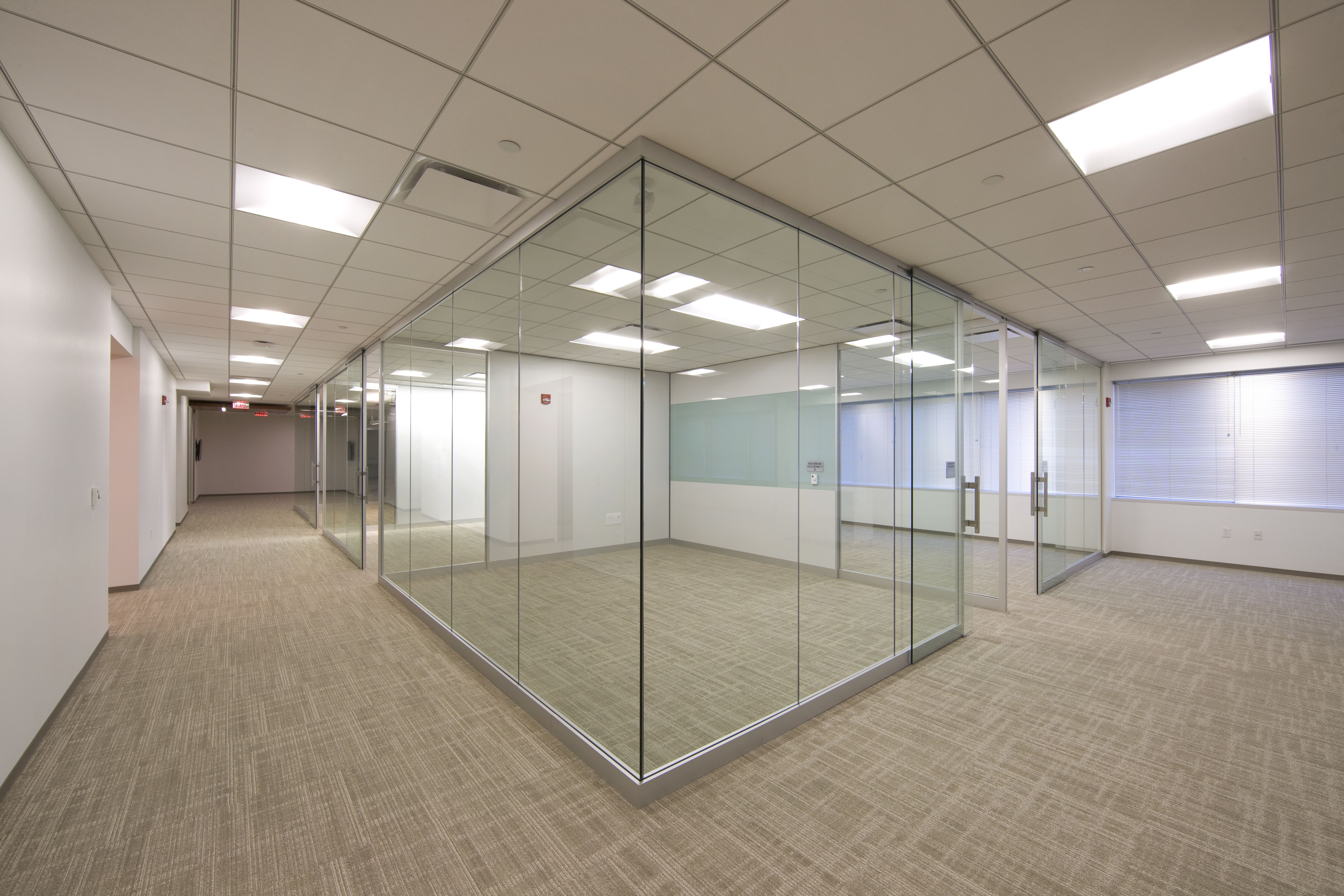 Lightline is a pre assembled unitized glass wall system for Movable glass wall systems