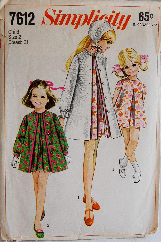 a374f4a9f Simplicity pattern 1968 | Moda años 60 | Moda infantil, Ropa y Ropa ...