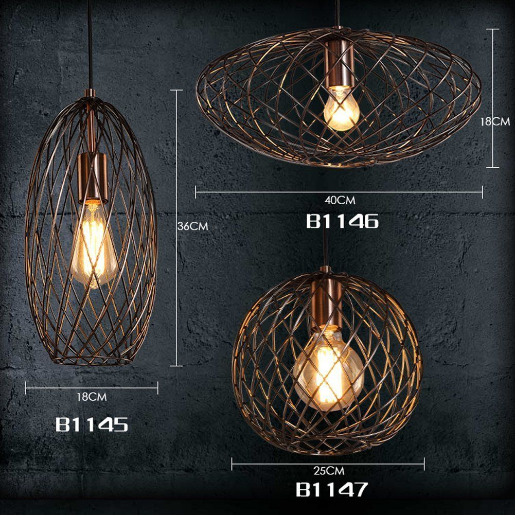 FOSHAN MINGZE 1 Light Modern Oval Cage Pendant Copper And Metal Finished Chandelier Creative