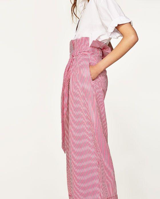 Imagen 4 de PANTALÓN ANCHO RAYAS de Zara   Dress   Pinterest   Rayas ...
