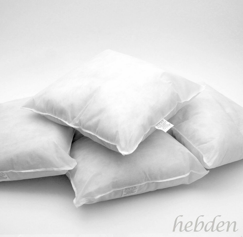 BRITISH EXTRA FILLED DUCK FEATHER CUSHION INNER PADS INSERT FILLERS HANDMADE