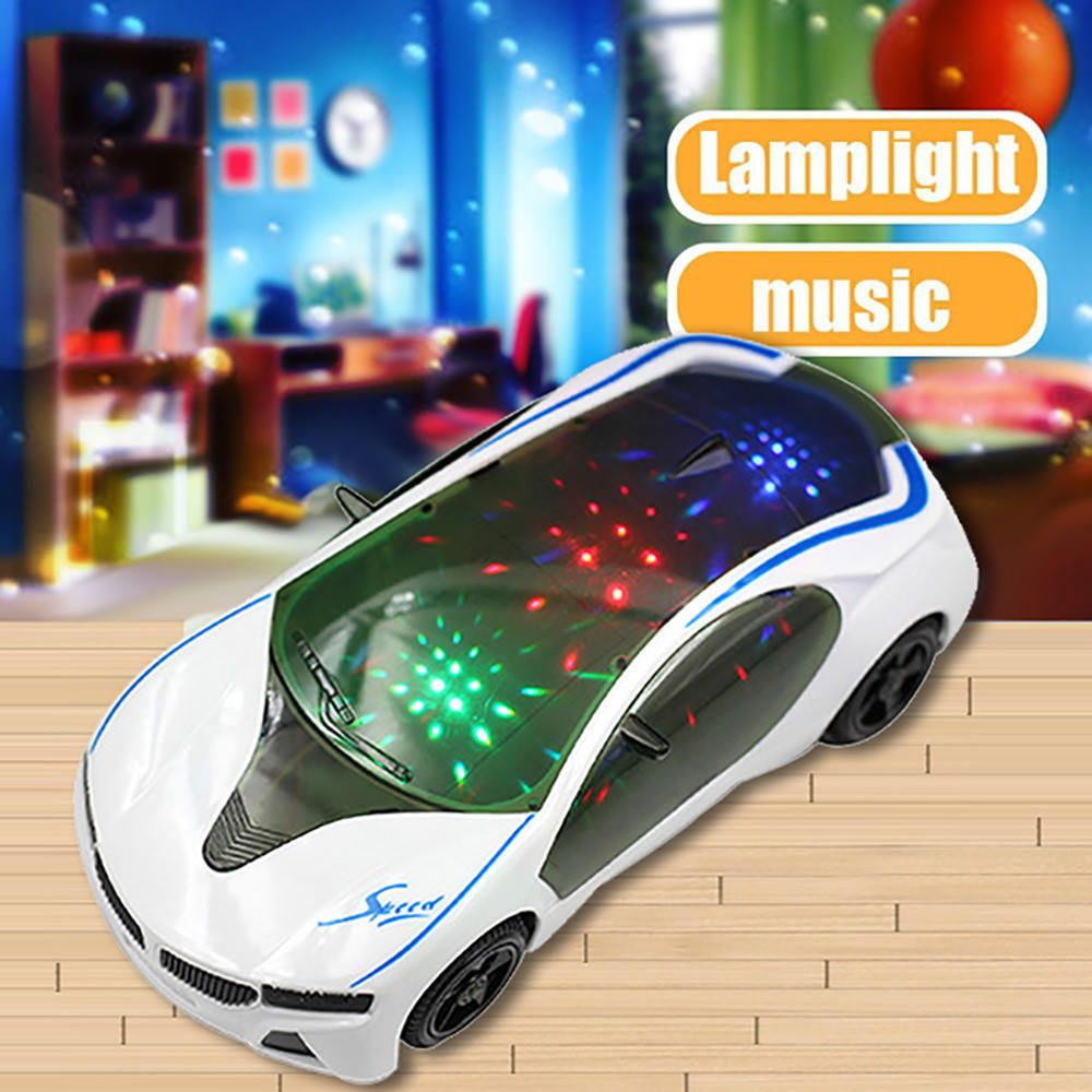 Baby girl car toys  D Electric Supercar Style Car Toy With Wheel LightsuMusic Baby Boy