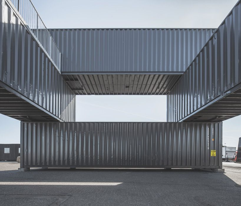 shipping container office building rhode. gallery of container stack pavilion peopleu0027s architecture 5 office and shipping building rhode