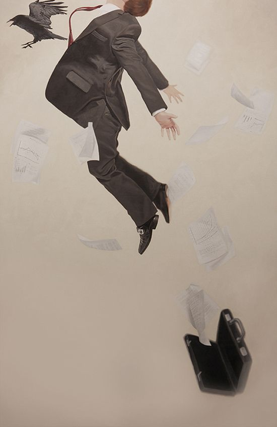 Relativity: Surreal Paintings by Alex Hall | Inspiration Grid | Design Inspiration