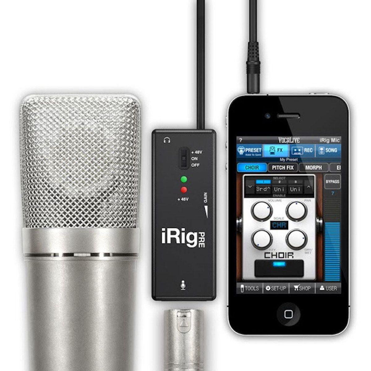 iRig Pre Irig, Microphone, Iphone