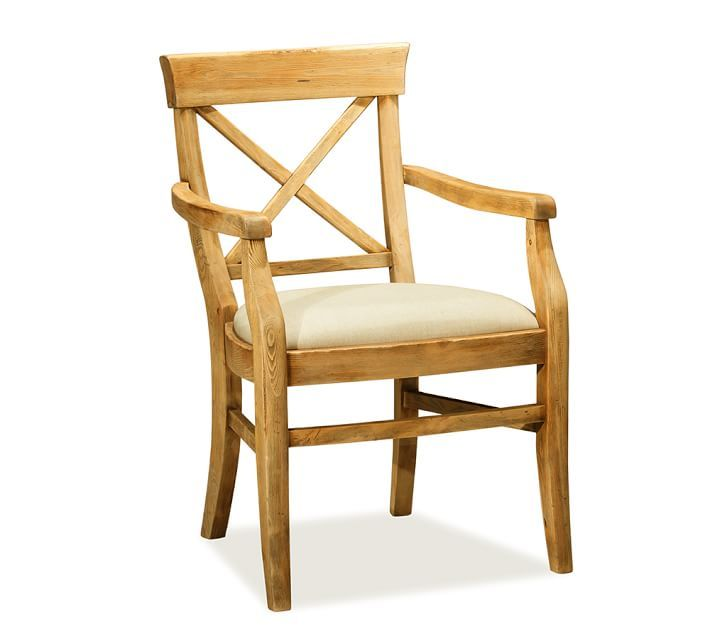 Upholstered Wooden Folding Chairs aaron upholstered armchair, rustic pine stain | home | pinterest
