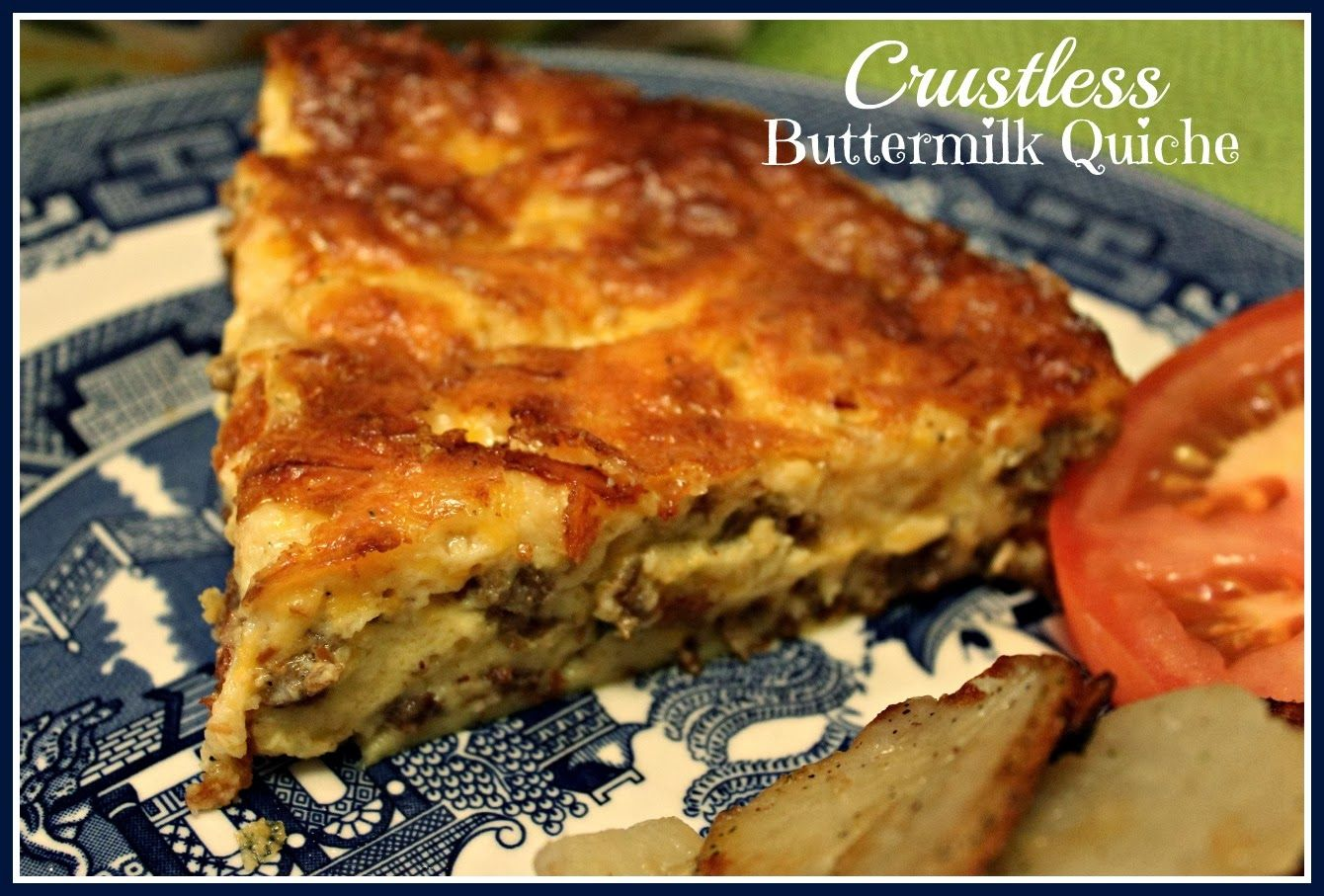 Crustless Buttermilk Quiche Quiche Recipes Food Recipes Food