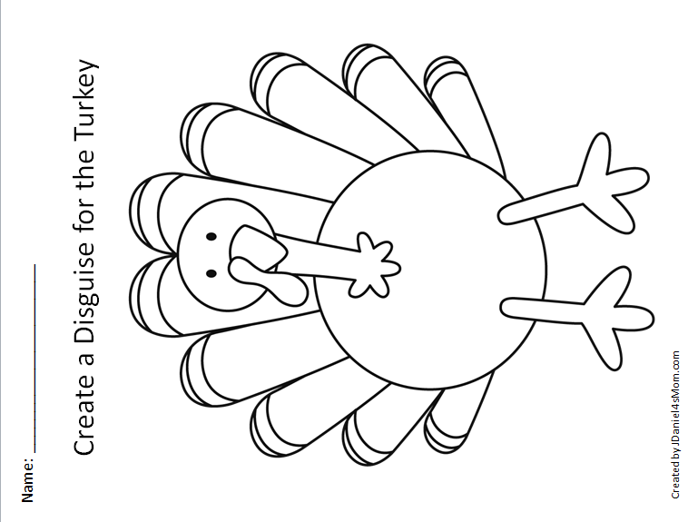 18 disguise a turkey project printable template ideas