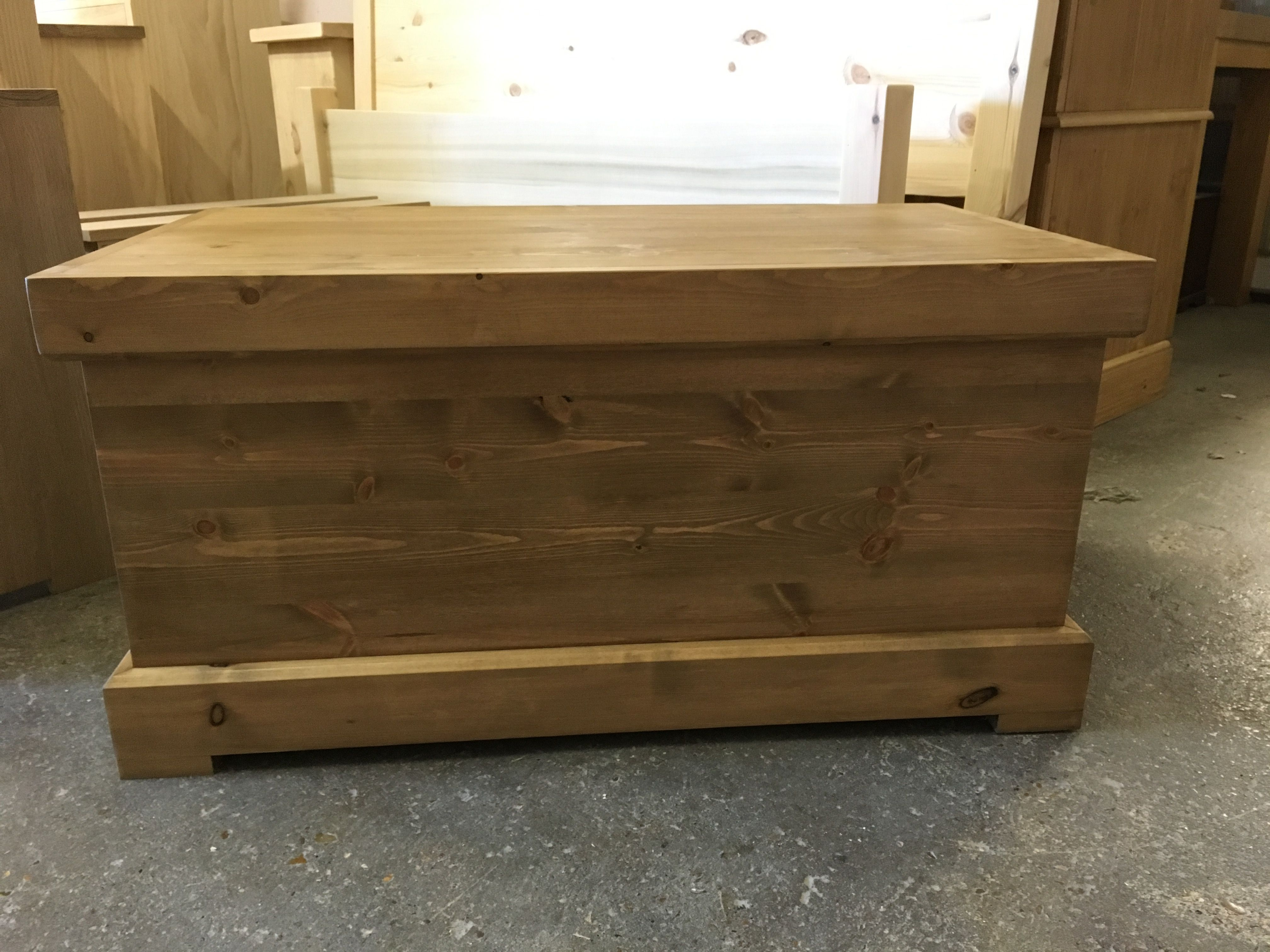 Chunky Pine Blanket Box Made To Order From Cobwebs Furniture Company