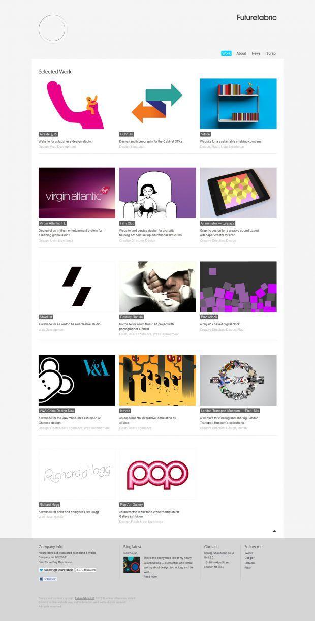 Futurefabric Interaction Designer Webdesign Inspiration Www Niceoneilike Com Web Design Web Design Inspiration Modern Web Design Trends