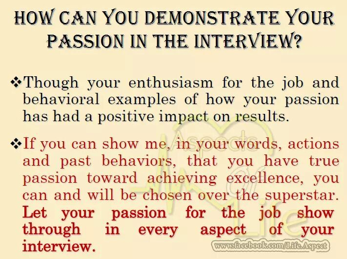 Another Question From HR #ShowPassion #Enthusiasm #KeyTurningPoint - resume questions and answers