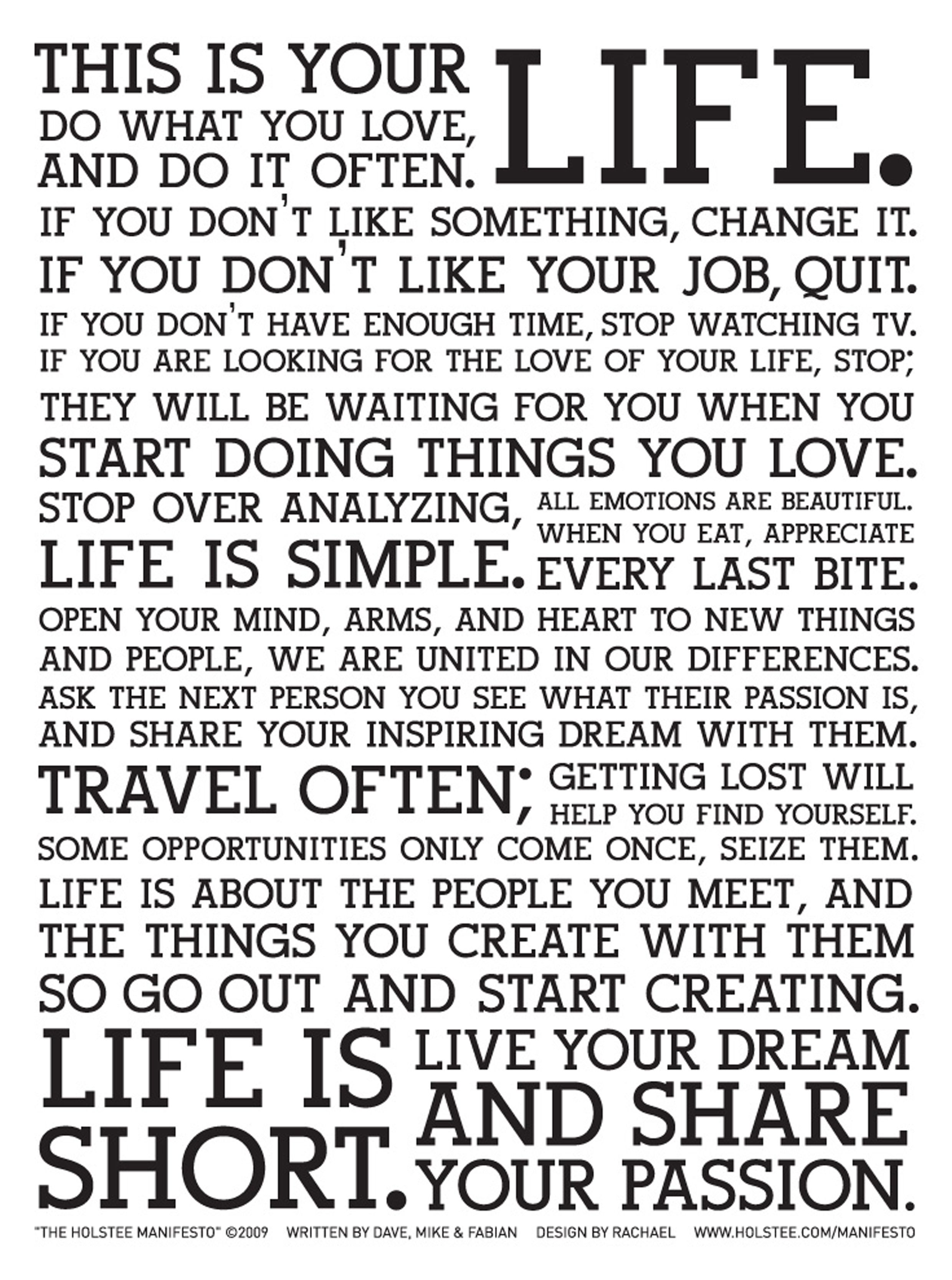This Is Your Life Quote Poster Life Manifesto Poster  Google Search  Quote  Pinterest  Life