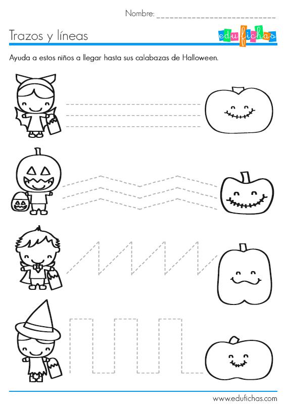 Ficha de #grafomotricidad para Halloween | Handwriting | Pinterest ...