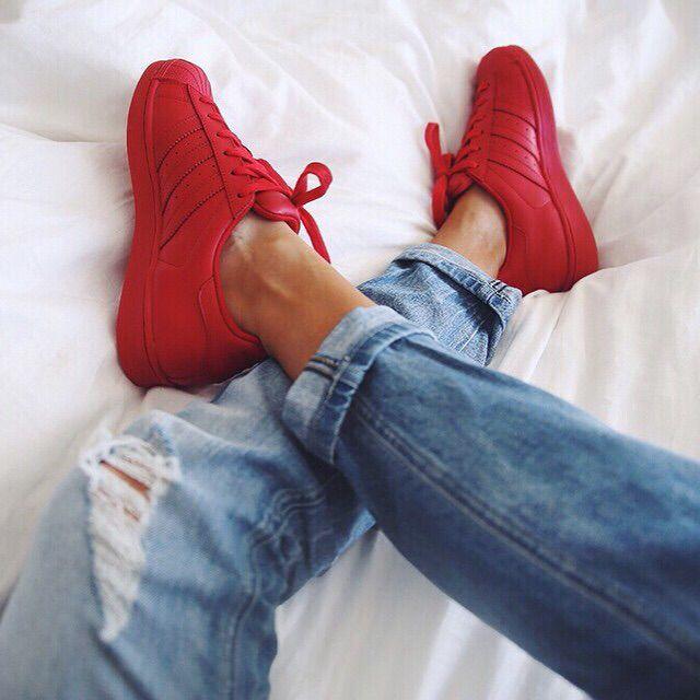 Red shell tops Adidas X Pharrell