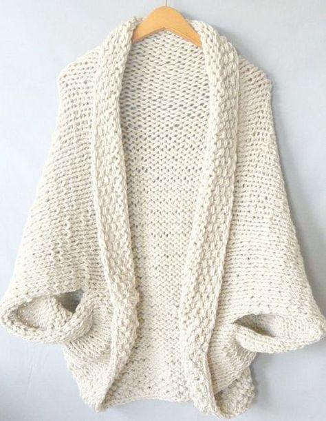 Easy Knit Blanket Sweater Free Pattern Beautiful Skills Crochet