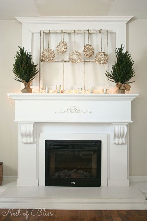 A Collection Of Winter Mantels Winter Home Decor Fireplace Mantel Decor Fireplace Decor