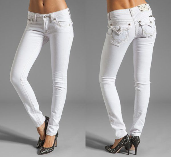 Miss me skinny jeans white