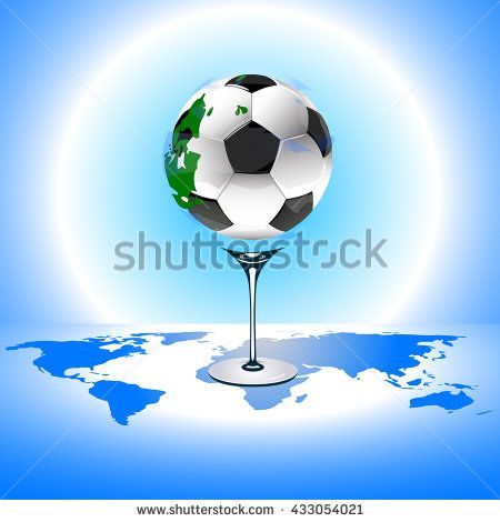 Soccer ball with world map stock vector paris soccer soccer ball with world map stock vector gumiabroncs Gallery