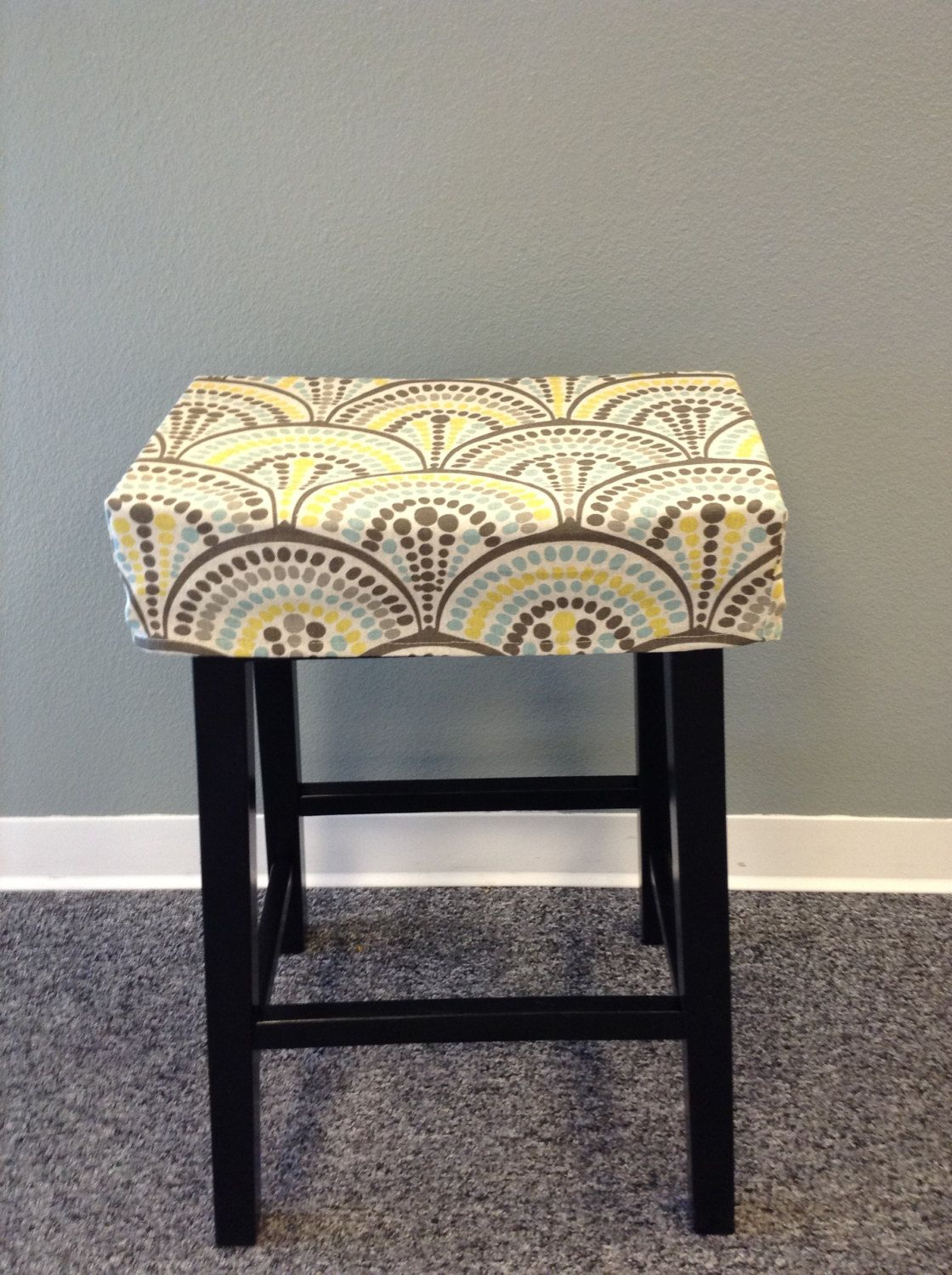Fitted Saddle Stool Seat Cushion Rectangular Cover Kitchen