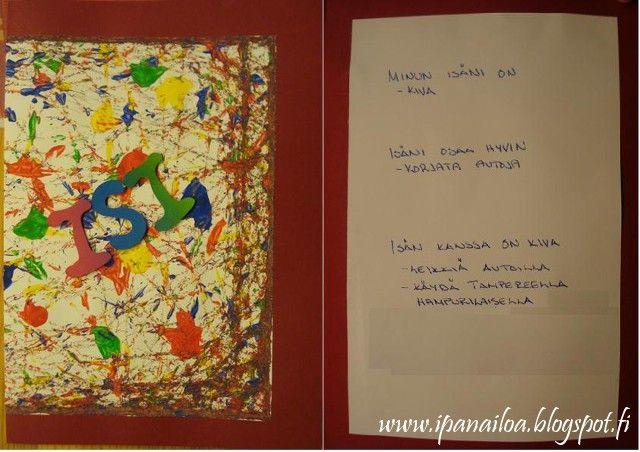 askartelua: isänpäivä, kortti, kuulamaalaus  http://ipanaaskartelua.blogspot.fi/2010/11/isanpaivakortti.html