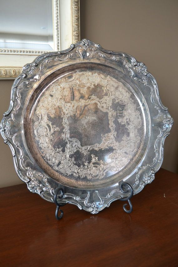 Vintage Gorham Silver Electroplated Round Scalloped by ChalksOLot