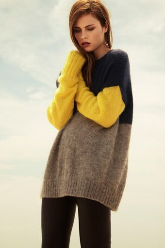 Color block combo sweater