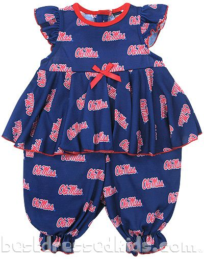 501ae4d72 Ole Miss Skirted Frilly Jumpsuit - TJ s PJs University of ...