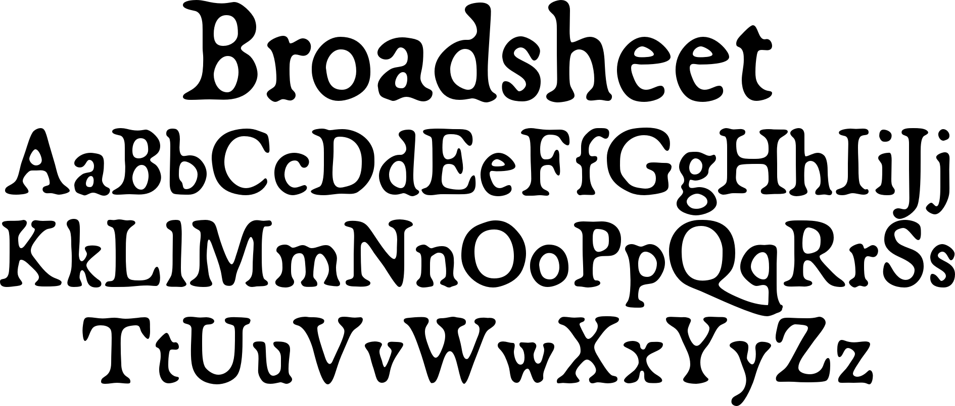 Broadsheet Font Based On Antique Publications From 1728 And 1776 Broadsheet Is A Full Featured Typeface That Simulates Old Historical Fonts Fonts Lettering