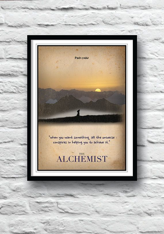 Minimalist Classroom Quotes ~ The alchemist paulo coelho quote poster minimalist by