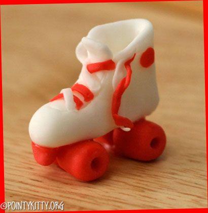 Fondant Roller Skate Cupcake Topper Sculpted By Lacey Fondant Roller Roller Skate Cake Fondant