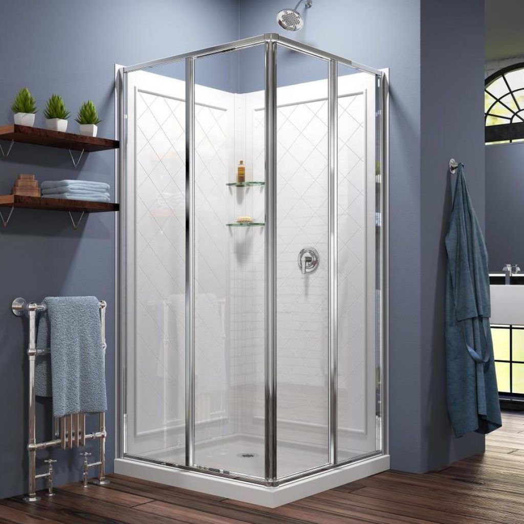 Shop Shower Stalls Kits At Lowes Within Bathroom Shower Stall
