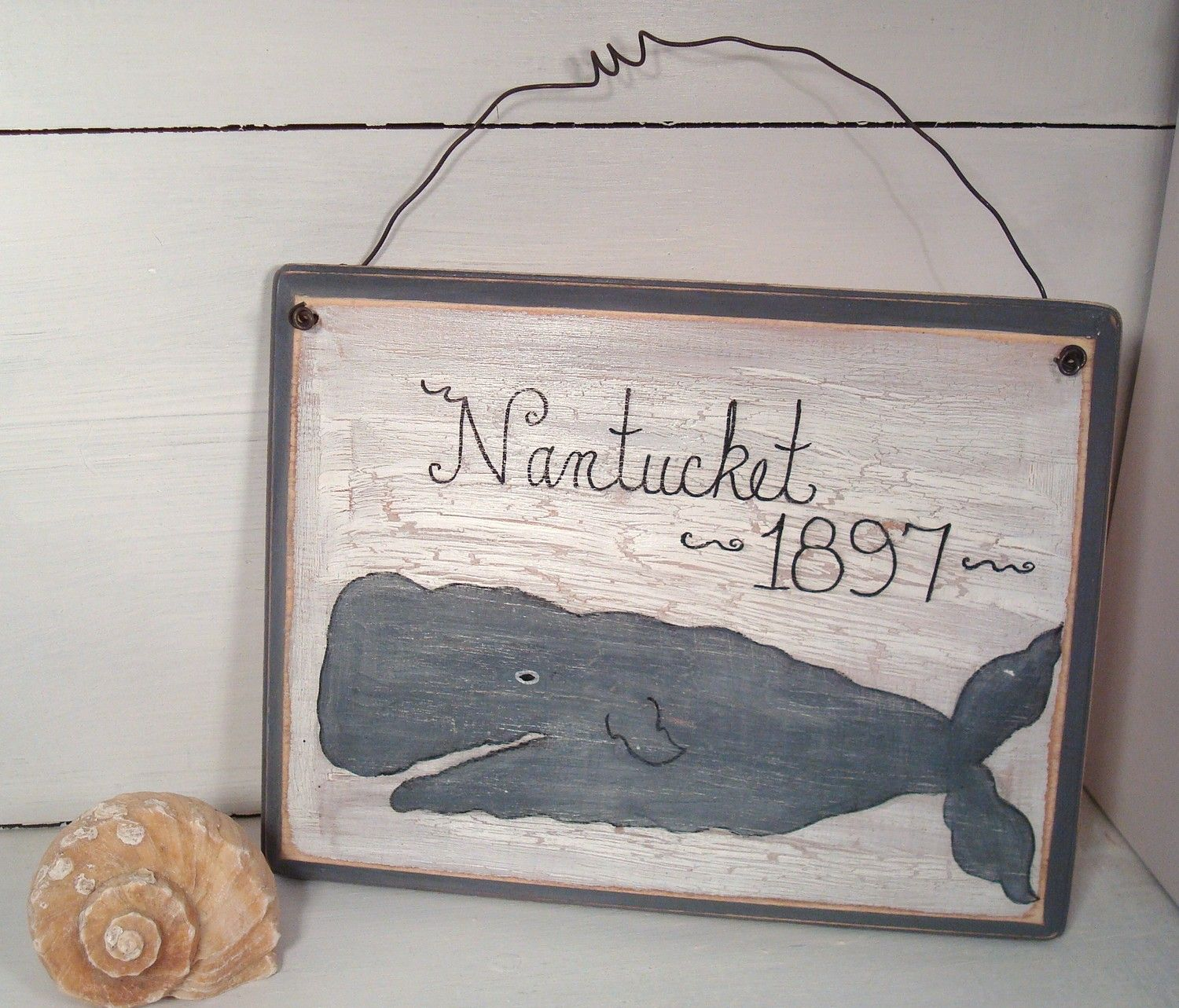 Nantucket Sign Vintage Nautical Style