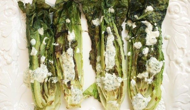 Grilled Hearts of Romaine with Yogurt Dill Dressing: TNP Originals — The New Potato