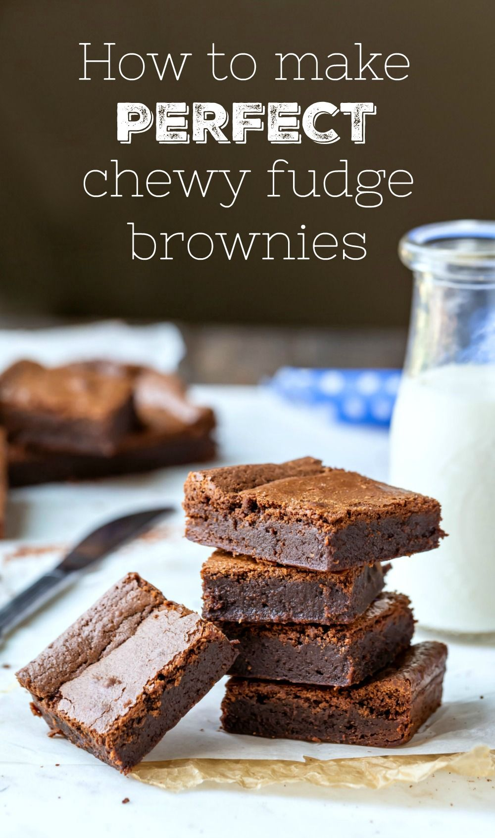 How to make brownies! This guide to making perfect fudge brownies has all of the step-by-step photo
