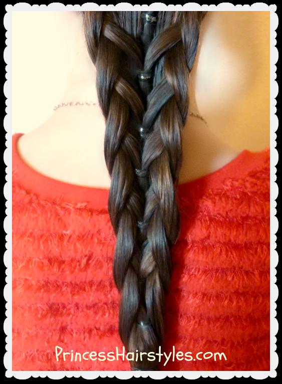 elastic mermaid braid hairstyle