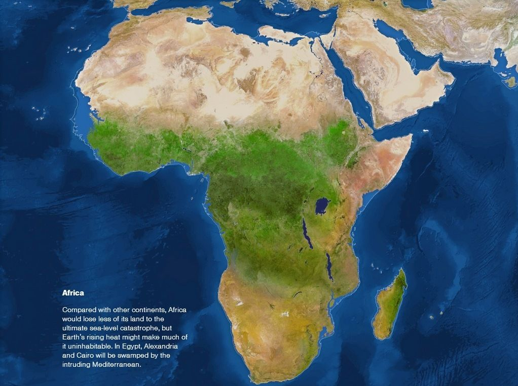 Africa if all the ice in the world melted maps pinterest africa if all the ice in the world melted gumiabroncs Images
