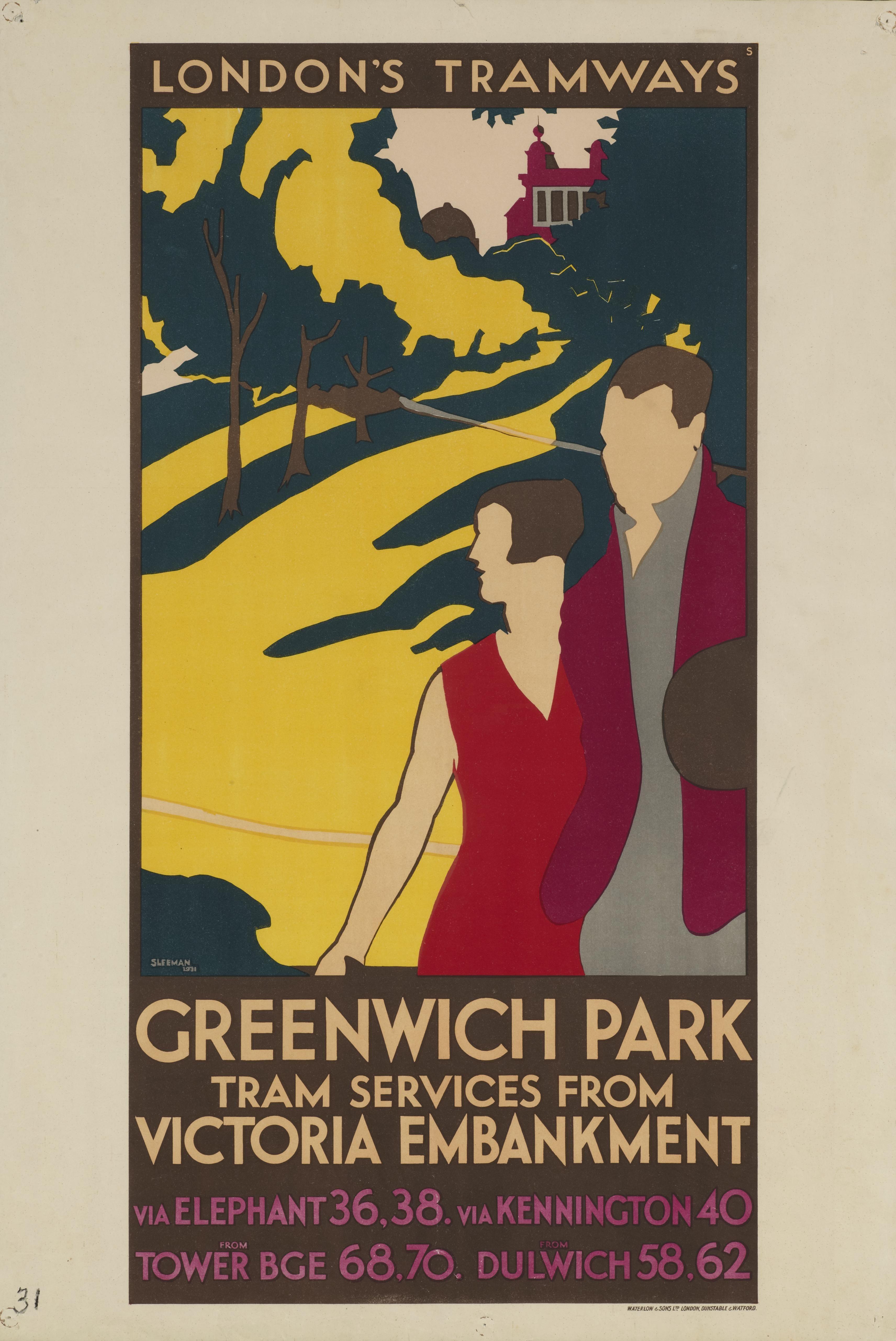 1939 Kew Gardens Tourism Poster A3//A4 Print