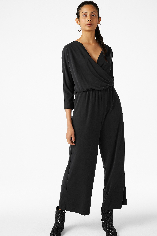 3faa3be6 Wrap over jumpsuit - Black magic - Jumpsuits - Monki SE   inköp ...