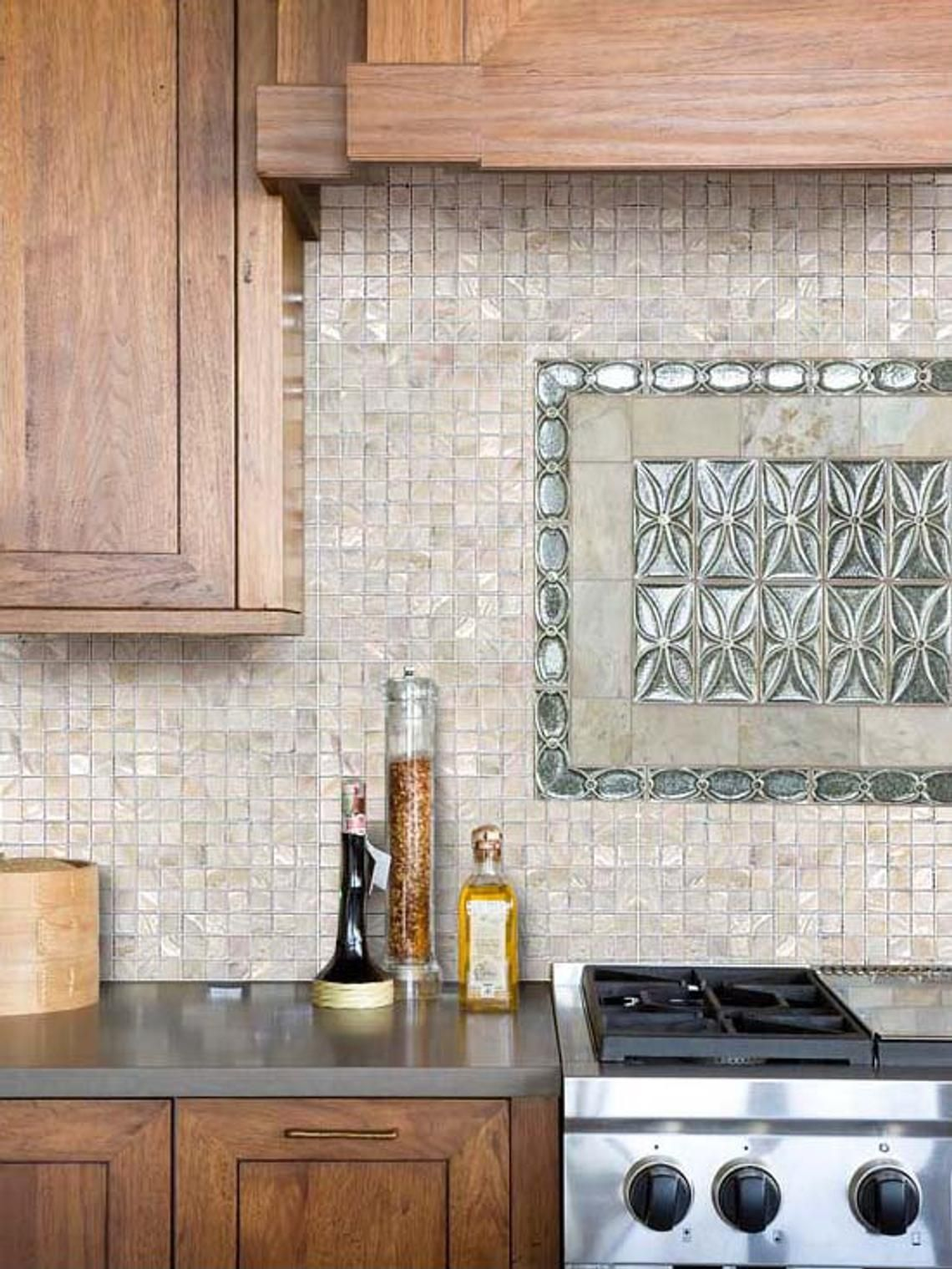- Hand Made Mother Of Pearl Tile - Cream 1