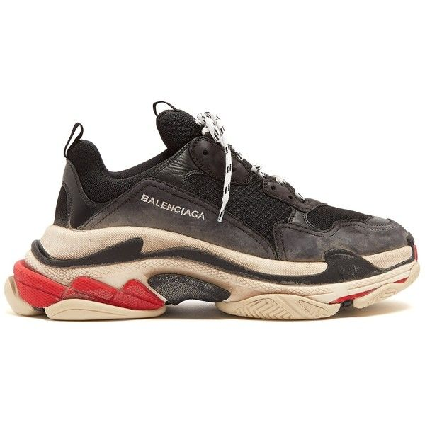 0fc92aada1d5 Balenciaga Triple S trainers ( 850) ❤ liked on Polyvore featuring shoes