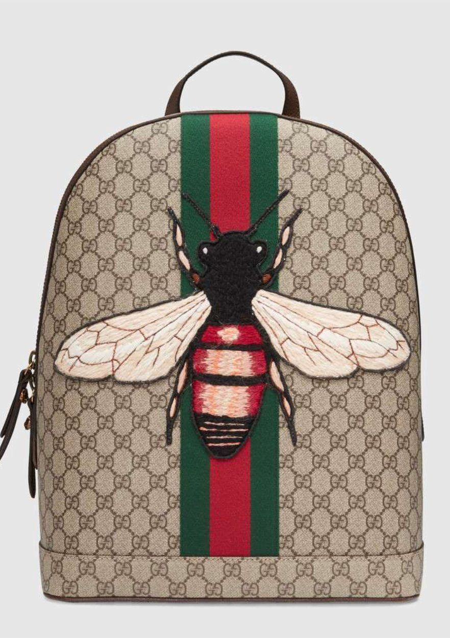 6782c53cc22 Gucci Web Animalier backpack with bee