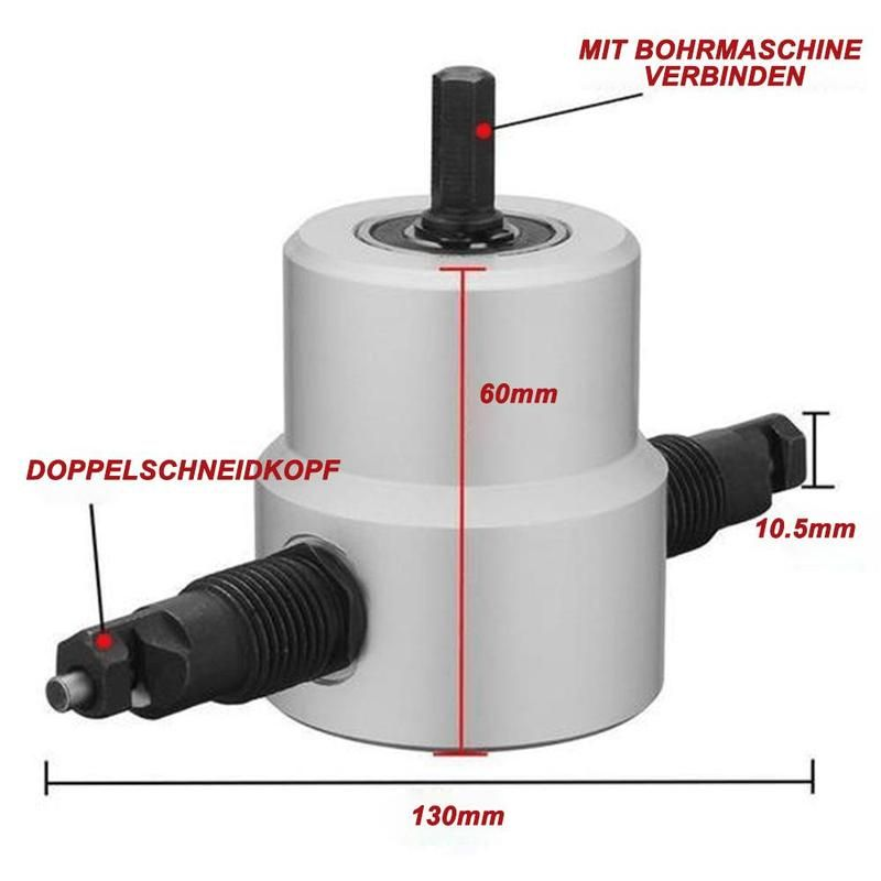 Bequee Metall Schneidwerkzeug Doppelkopf Blechknabber