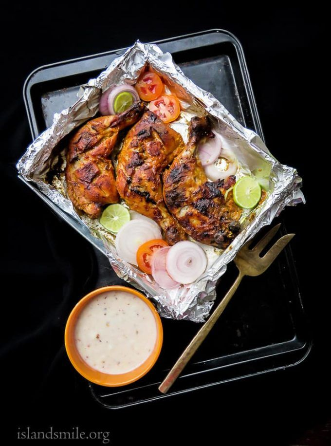 How to make Tandoori chicken at home(oven baked). | Island smile #tandoorichicken