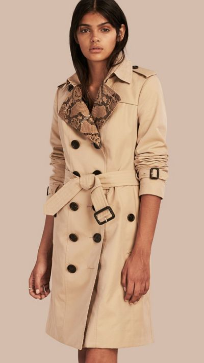 New Womens Superdry Unique Sample Winter Belle Trench Coat Size Large Stone