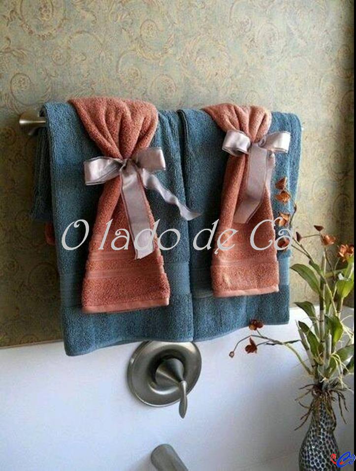 O Lado de Cá: Decoração com toalhas