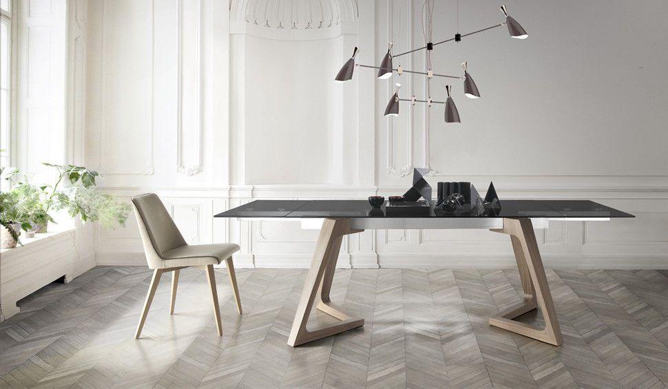 premium esstisch nil 2 gr en ausziehbar glas oder keramik echtholz esstisch in 2019