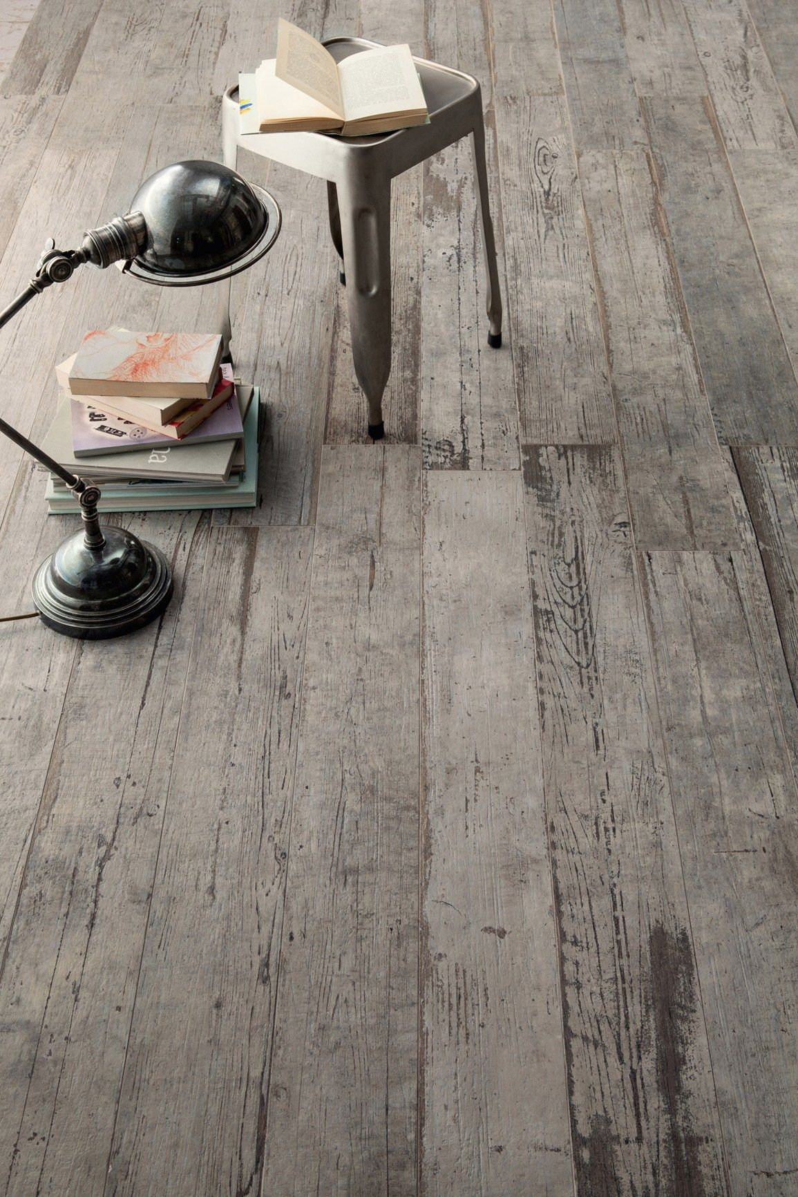 This Incredible Distressed Wood Floor Has A Secret It S Not Really Looking Tile Introducing Blendart The New Porcelain Collection