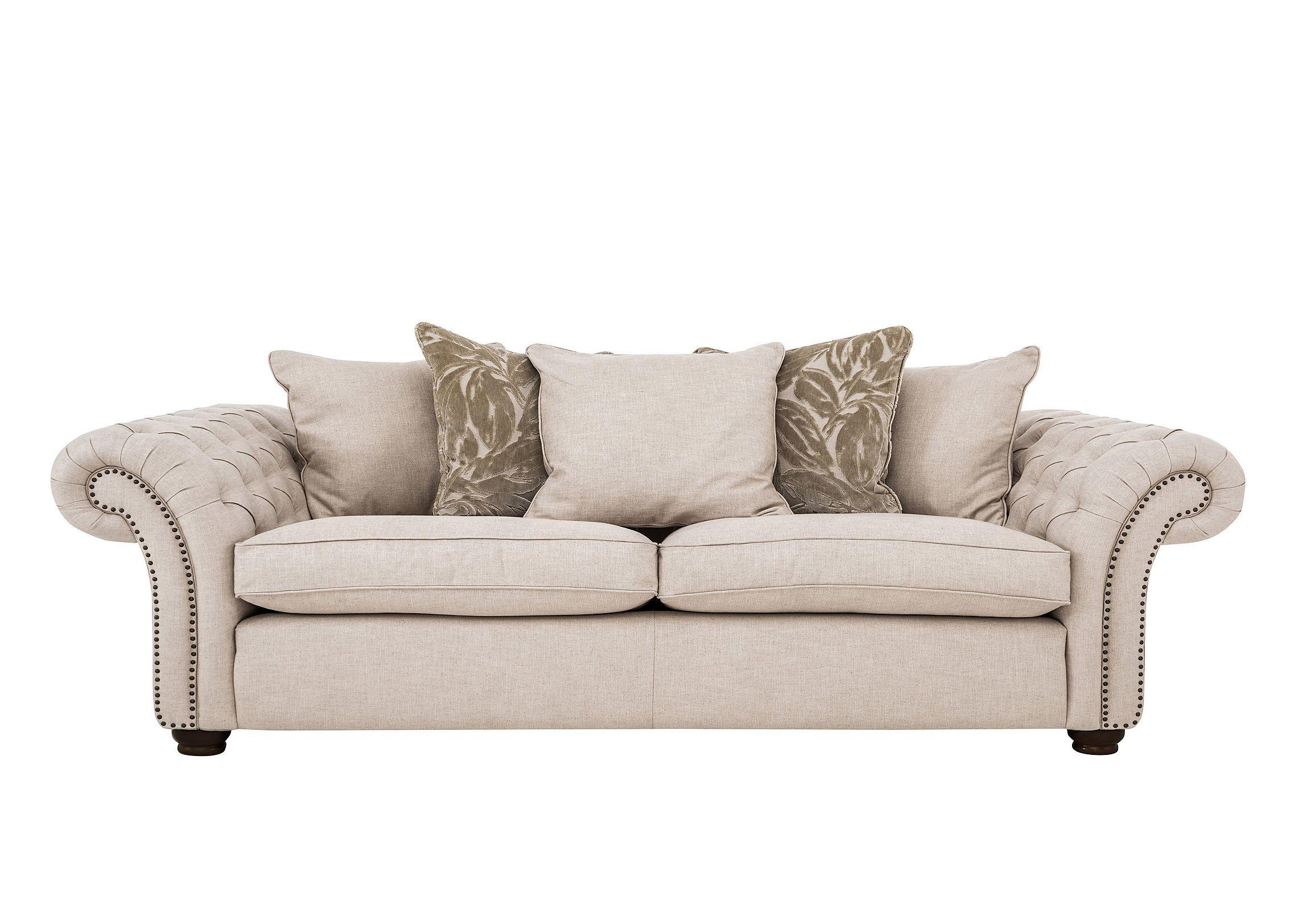 Lanesborough 4 Seater Pillow Back Fabric Sofa | New Lounge ...