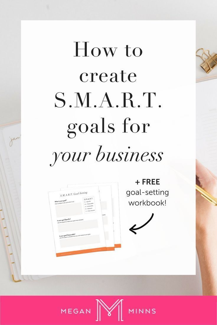 Today I'm going to teach you how to set S.M.A.R.T. goals for your business. By following this process, you're going to take your original goals and turn them into S.MA.R.T. goals that you can (and will!) actually achieve. Click here to download a trans #e