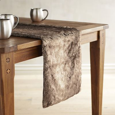 Faux Fur Table Runner